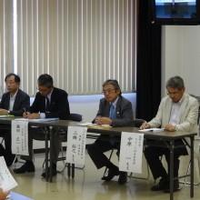 講師の先生方 右から中原先生・三橋先生・藤田先生・三谷先生