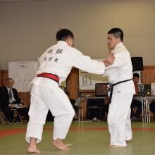 長野会員(右)試合風景