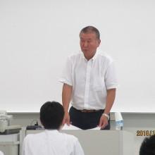 講師の福岡医健専門学校副校長 松井宏樹先生 講演風景