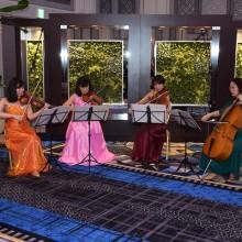 祝賀会に華を添える弦楽四重奏演奏①(オープニング)