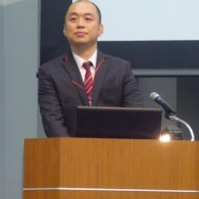 田代会員11月3日(木・祝)の学術大会での発表風景