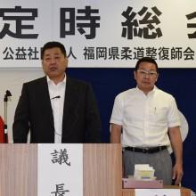 石坂修一議長(左)と高石雅徳副議長
