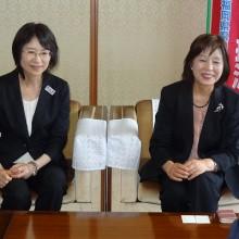 飲酒運転撲滅セレモニーにて海老井副知事(右)と大曲新社会推進部長(左)