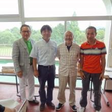 日整代表選手左から塩川会員・枝光会員・西本会員・古賀会員