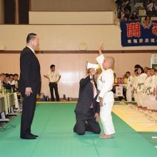 前回優勝東福岡柔道教室 佐藤怜選手の選手宣誓