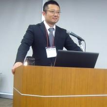 川上会員11月4日(土)の学術大会での発表風景