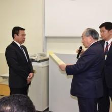 閉講式 終了証授与 沖縄県の國吉正人先生
